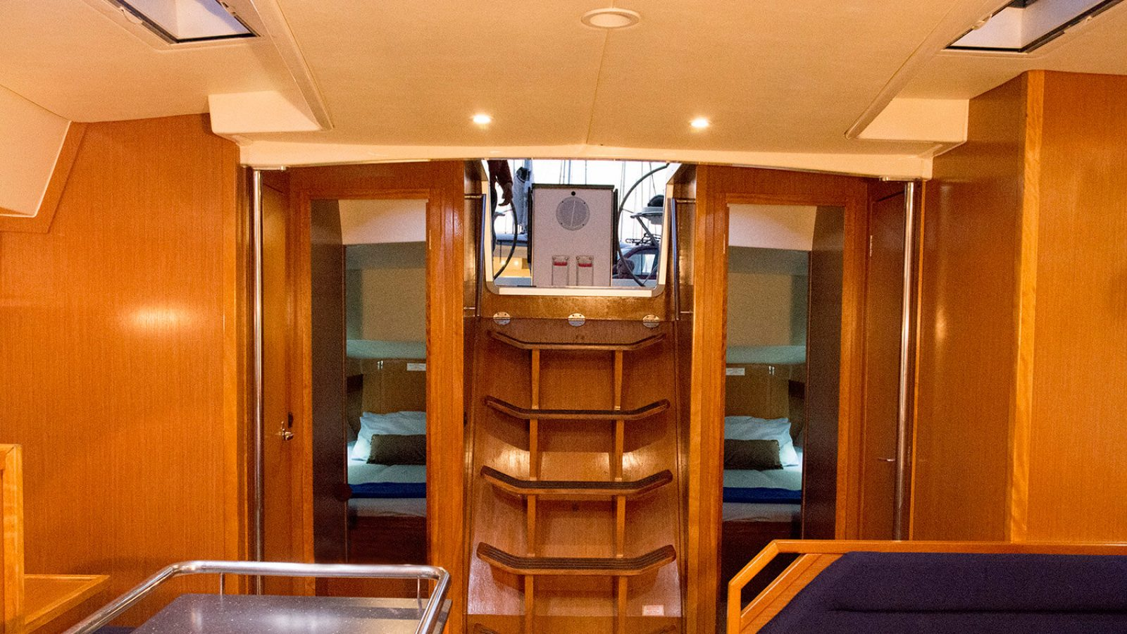 Inside of Bavaria Cruiser 55 back